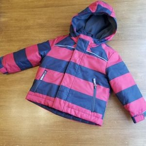 Cherokee Striped 3-in-1 multi-seasonal coat